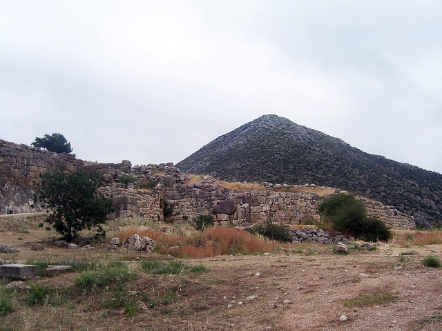 View of the citadel of Mycenae and the cyclopean walls