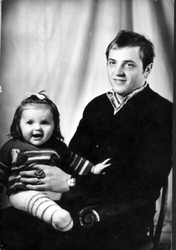 С дочерью Анной 73 год