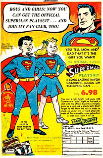 1955 ... complete with billowing cape!