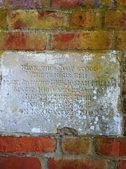 Photo of Josiah Pullen stone plaque