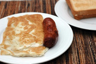 Omlette and Sausage