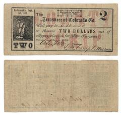 Colorado County $2.00 (two dollars) county scrip