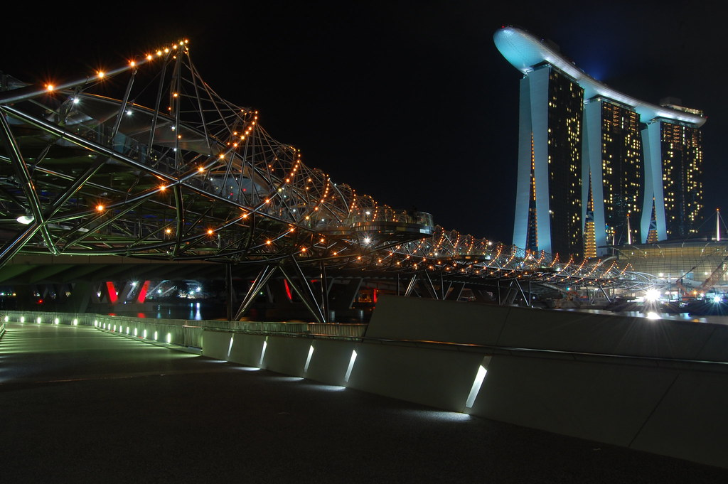 Marina Bay Sands and Helix Bridge