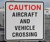 Aircraft and Vehicle Crossing