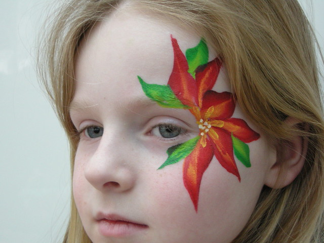 Easy Flower Face Painting Designs