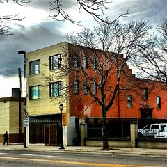 Colorful building on Colfax in the Spring 2014.Denver- Colorado.