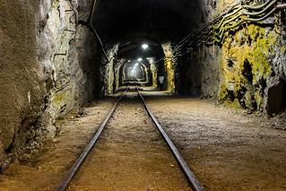 Obraz Rammelsberg. goslar niedersachsen deutschland de bergwerk rail railway railroad tunnel mining mine underworld underground rammelsberg longexposure canon eos 70d