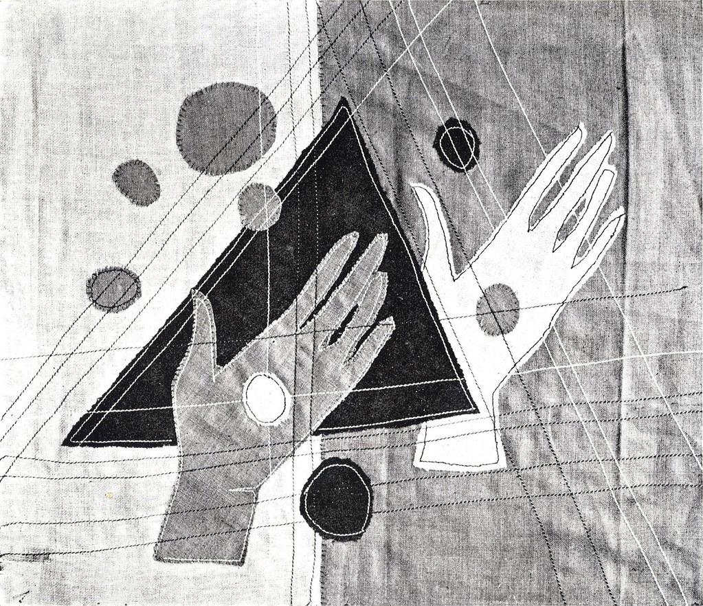 Rebecca Crompton stitched panel 9