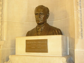 Bust of Sherman Minton (angled front)