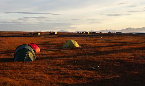 camping sunset camp sky clouds tents dusk illumination tent svalbard spitsbergen campsite longyearbyen