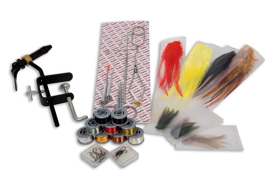 Pesca a mosca fly kit mosche morsetto piume ami fili 9794 for Kit di costruzione portico