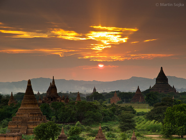 Sunset over Bagan ~ Myanmar (Burma)