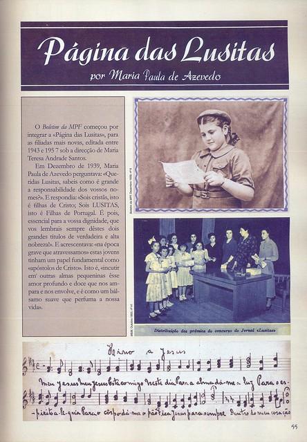 Mocidade Portuguesa Feminina, Nº 8, Dezembro 1939, Menina e Moça, Nº 41, Outubro 1950