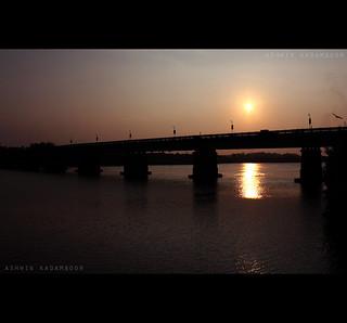 Bridge's Silhouette at Sunset