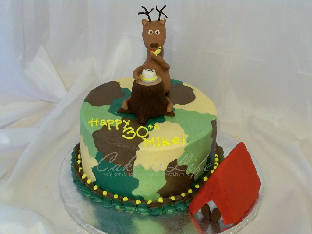 Wondrous Deer Hunters Birthday Cake 11 2010 This Cake Was Pretty Flickr Personalised Birthday Cards Sponlily Jamesorg