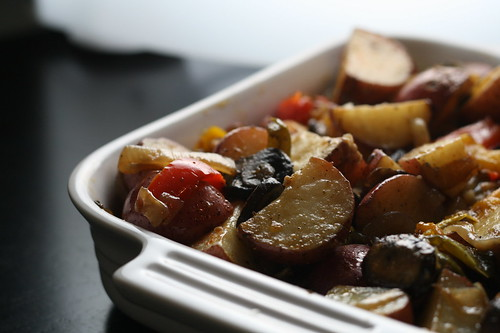 Potatoes with Roasted Vegetables