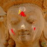 Marked Holy Statue - Bhaktapur, Nepal