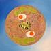 Winter Shoyu Ramen food painting for the vegetarian recipes cookbook by Australian artist Fiona Morgan