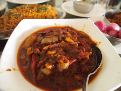 meat(0.0), gumbo(0.0), meal(1.0), stew(1.0), curry(1.0), vegetable(1.0), produce(1.0), food(1.0), dish(1.0), cuisine(1.0), goulash(1.0),