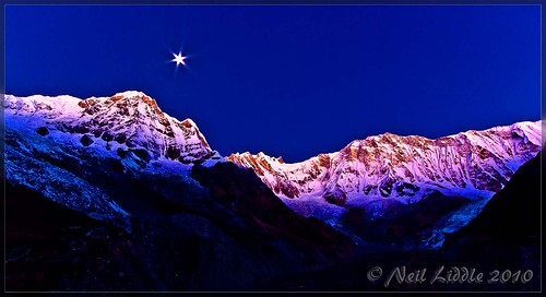 travel blue nepal moon snow color colour slr sunrise wow landscape interestingness amazing interesting asia peace purple great explore mauve annapurna braga mountian 2010 outstanding lr3 npl 550d cs5 canon550d neilliddle gandakīzone landseavision liddlephotography