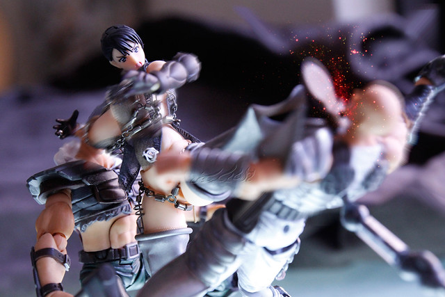 """Photo:06""""Fighting theme"""" of """"deluxe dress"""" for revoltech """"Queen's blade"""" Cattleya Katrea リボルテックQB  リボルテック 武器屋 カトレア By Skinning Bear"""