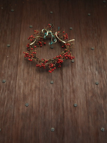 Smilax wreath - Merry Christmas and a Happy New Year. Tokyo, Dec 2010.