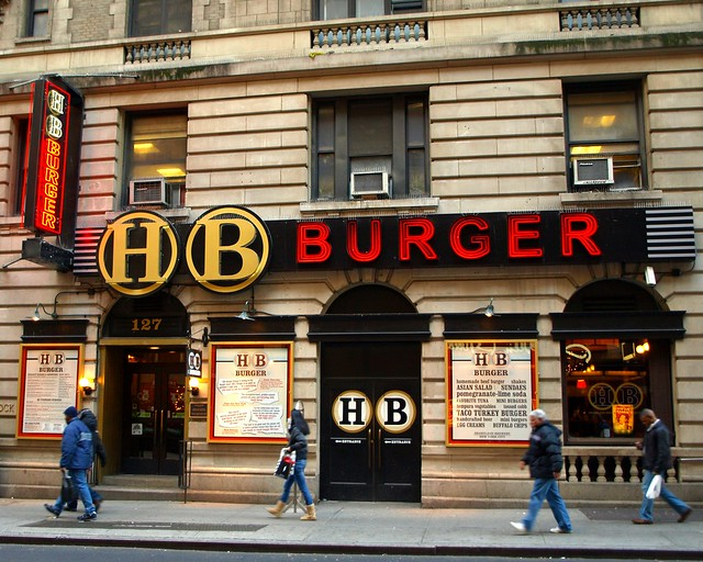 hb burger restaurant theater district new york city flickr photo