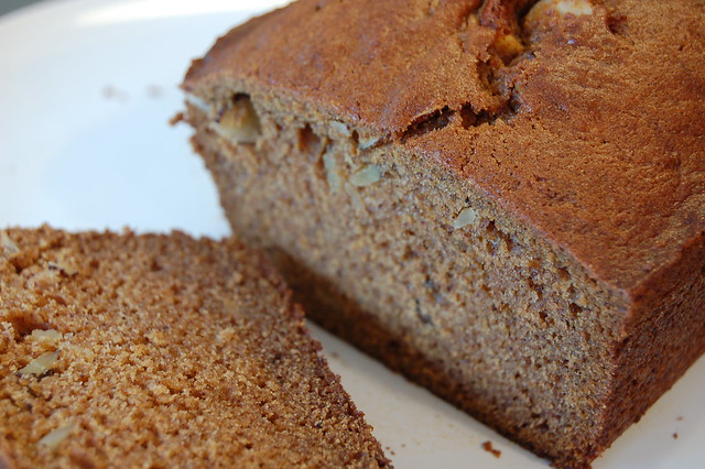 A slice of pumpkin-almond bread by Eve Fox, Garden of Eating blog, copyright 2011