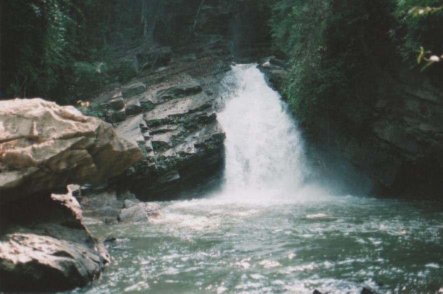 Like a waterfall in slow motion