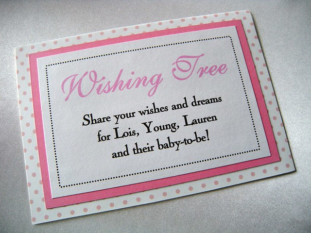 Baby Shower Wish Tree Poem http://www.flickr.com/photos/susanschrock/5340214279/