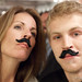 Ryan and Anne w/staches by Atom Moore