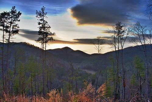 sunset mountains hdr blueridge northgeorgia