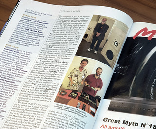 I'm in stereophile (magazine) this month!