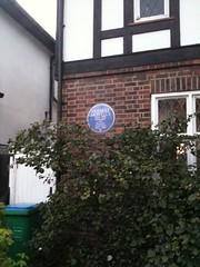 Photo of Herbert Howells blue plaque