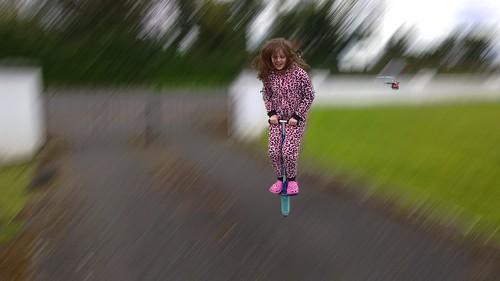 pogo stick motion blur