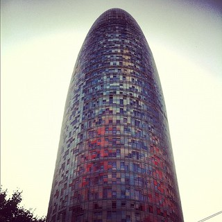 Image of Torre Agbar near GTD. square squareformat amaro iphoneography instagramapp uploaded:by=instagram foursquare:venue=4adcda51f964a520bb4121e3