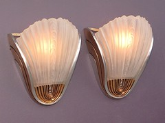 *vintage Deco slip shade wall sconces | vintagelights.com