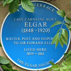 Photo of Caroline Alice Elgar blue plaque