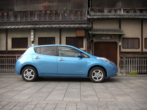 日産リーフ 京都の町屋