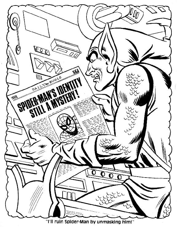 mysterio spiderman coloring pages - photo#38
