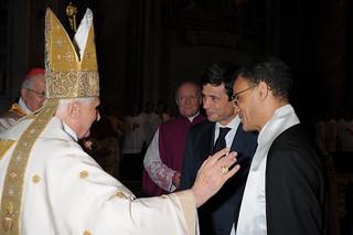 Davanti a Benedetto XVI con Magdi Cristiano Allam