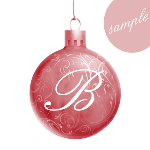 28 best christmas letter ornaments personalized santa for Number of ornaments for christmas tree