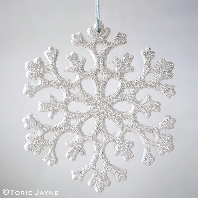 Glass marbled snowflake