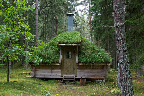 Small rustic cottages in swedish eco lodge for Small and friendly holidays