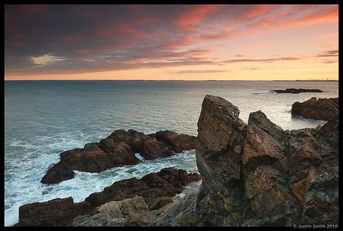 ocean sunset water rock coast massachusetts nikond50 justinsmith nahantma leefilters nikon1735mmf28 singhrayfilters