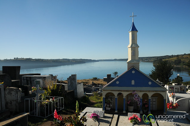 Cemetery View from Chonchi - Chiloe Island, Chile