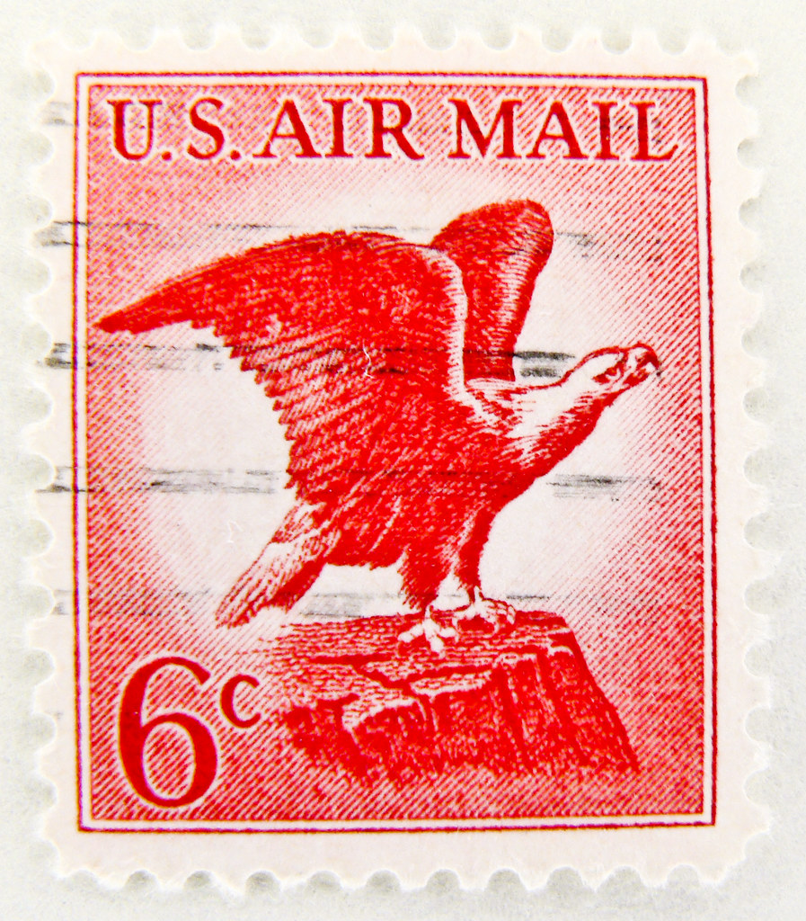 Beautiful Air Mail Stamp 6c USA Poste Aerienne Airmail Eagle United States Of
