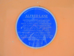 Photo of Alfred blue plaque