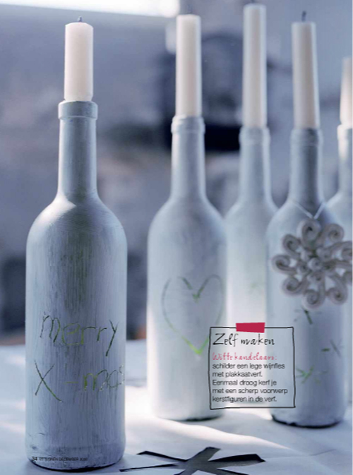 Diy bottle candle holders the style files for Wine bottle candle holder craft