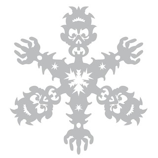 Full View/ Zombie Snowflake Papercraft Template/Pattern